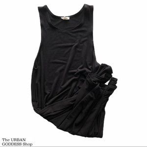 Black Midi Sleeveless Dress xs